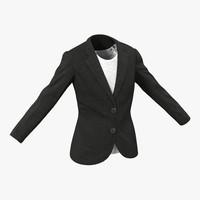 women suit jacket 3d 3ds
