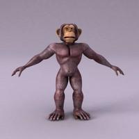 3d cartoon monkey