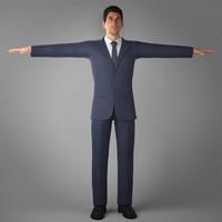 3d suit jean coat