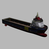 3d model supply vessel