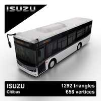 isuzu citibus city bus 3d model