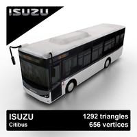 isuzu citibus city bus 3d model