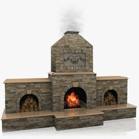 Animated Outdoor Fireplace