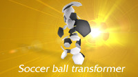 transforming ball animation 3d model