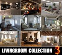 3d livingrooms scenes