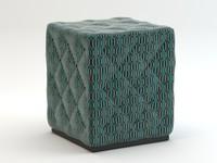 cube pouf 3d dxf
