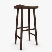 bar stool v2 3d 3ds