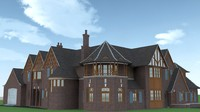 free victorian style mansion 3d model