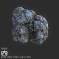 3ds max rock 1