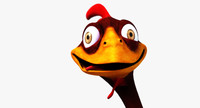Cartoon Chicken Rigged