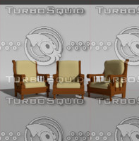 3d antique wooden chair model