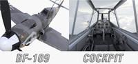 3d model bf-109 cockpit