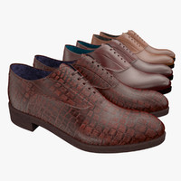 3ds max mens leather shoes