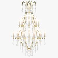 3d model vaughan labadie chandelier lights