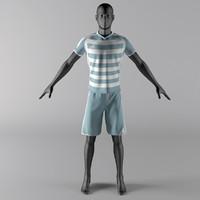 mannequin sport cloth 3d max