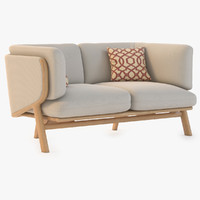 3d model of stanley 2-seater sofa