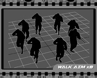 Walk aim 8 directions