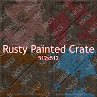 Rusty Painted Crates