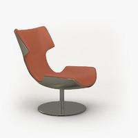 modern lounge chair 3d obj