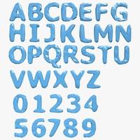 3d model alphabet b