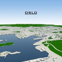 oslo cityscape 3d max