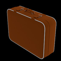 suitcase easily uv customizable 3d 3ds