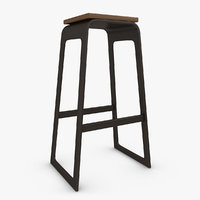 bar stool 03 3d model