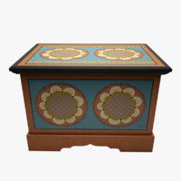 3d model painted box