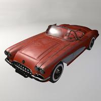 3d chevrolet corvette c1 model