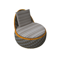 3d model dala dedon lounge chair