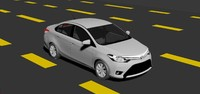 3d toyota yaris sedan model