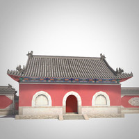 3ds max temple asia gate