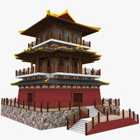 asia palace 3d model
