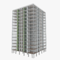 3d model apartment skyscraper building interior