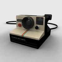 3d vintage polaroid