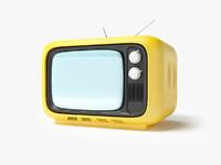 retro tv 3d max