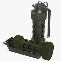 grenade light bomb 3d model