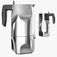3d ossidiana espresso maker alessi