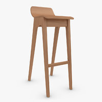 bar stool v4 3d 3ds