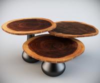 3d rio coffee table model