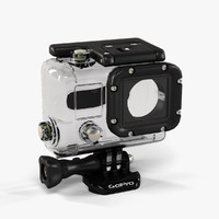 low-poly gopro hero3 waterhousing 3d model