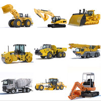 3d model of public works machines excavator