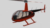 3d helicopter robinson r44 model