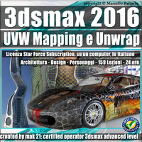3ds max 2016 UVW Mapping e Unwrap Subscription