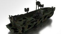 boat navy seals 3d obj