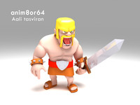 3d warrior clash clans model