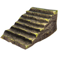 free rocky games staircase 3d model