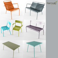luxembourg fermob furniture 3d model