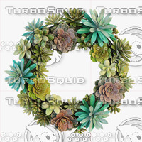 3d model of succulent wreath