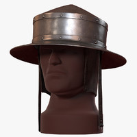 3d model pointed kettle hat chapel